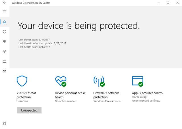آنتی ویروس Microsoft Defemder