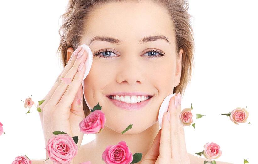 فوايد گلاب براي پوست